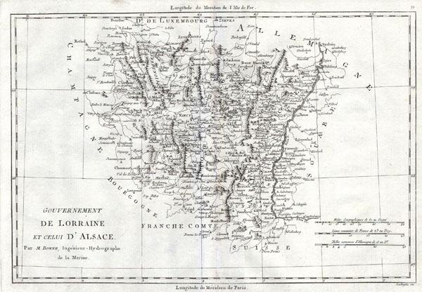 Gouvernement de Lorraine et celui D' Alsace.