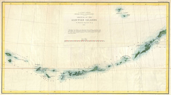 Sketch of the Aleutian Islands to Illustrate Appendix No. 11.
