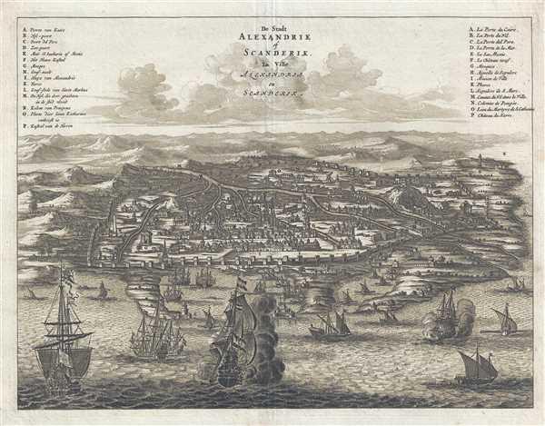 De Stadt Alexandrie of Scanderik. La Ville Alexandria ou Scanderik.