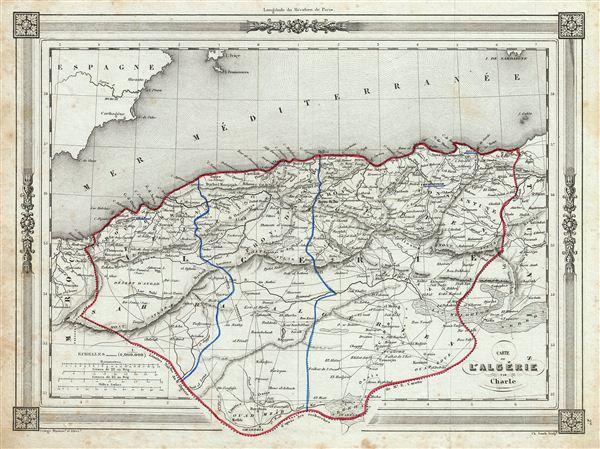 Carte l'Algerie.