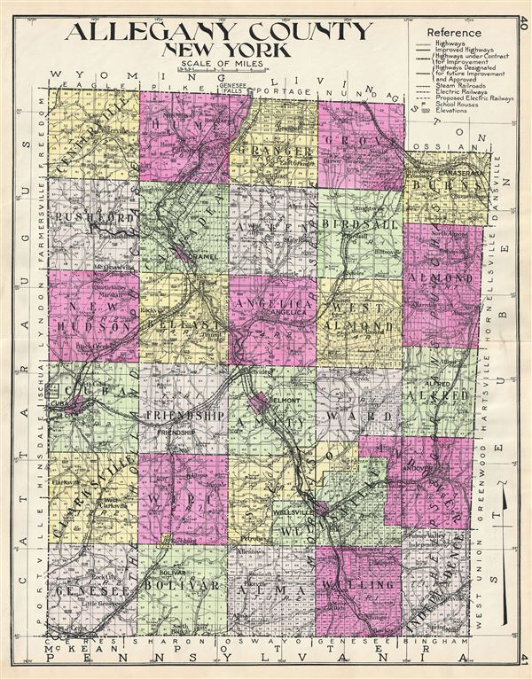 Allegany County New York.: Geographicus Rare Antique Maps