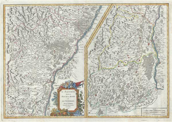 l'Alsace divisee en Haute et Basse et le Sundgau.