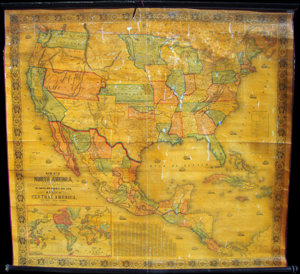New Map of that portion of North America exhibiting the United States and Territories, the Canadas, New Brunswick, Nova Scotia and Mexico, also, Central America and The West India Islands.