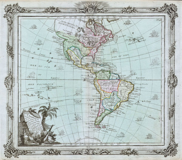 L'Amerique Dressee pour l'etude de la Geographie. - Main View