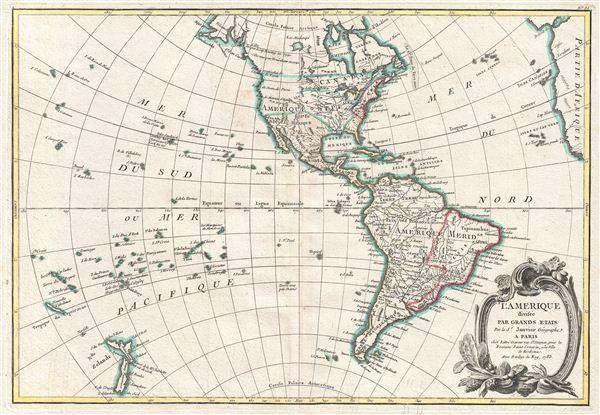 L'Amerique divisee Par Grands Etats. - Main View