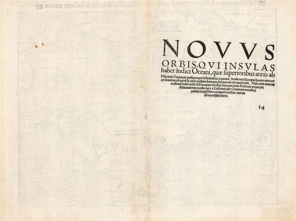 Tabula novarum insularum, quas diversis respectibus Occidentales et Indianas vocant. - Alternate View 1