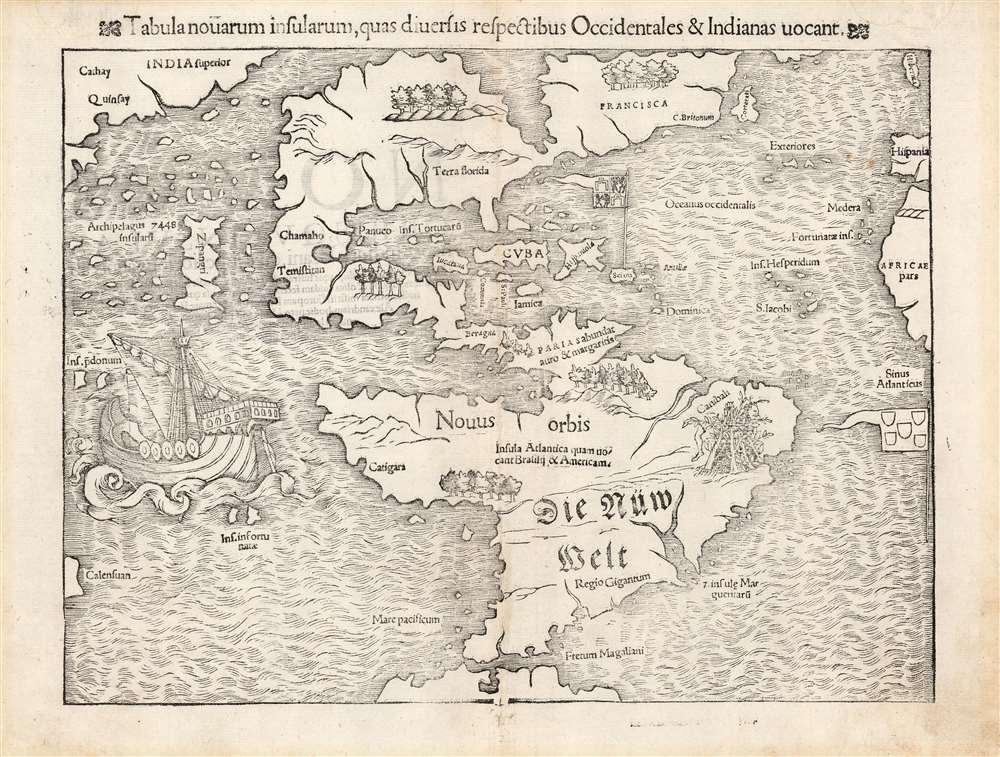 Tabula novarum insularum, quas diversis respectibus Occidentales et Indianas vocant. - Main View