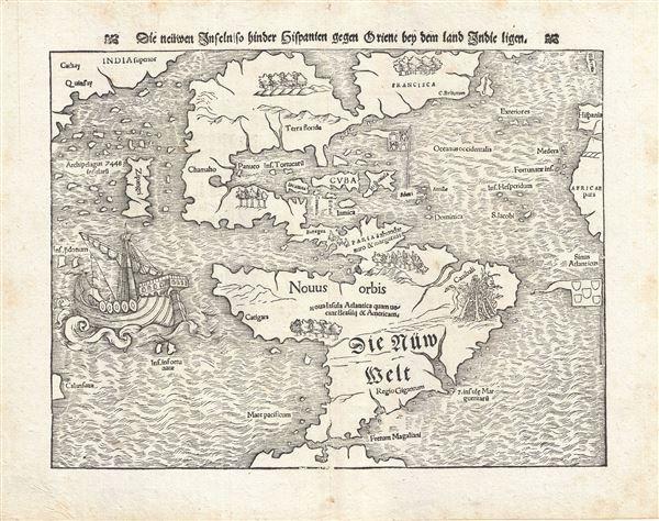 Die neuwen inseln so hinder Hispanien gegen Orient bey dem land Indie ligen.