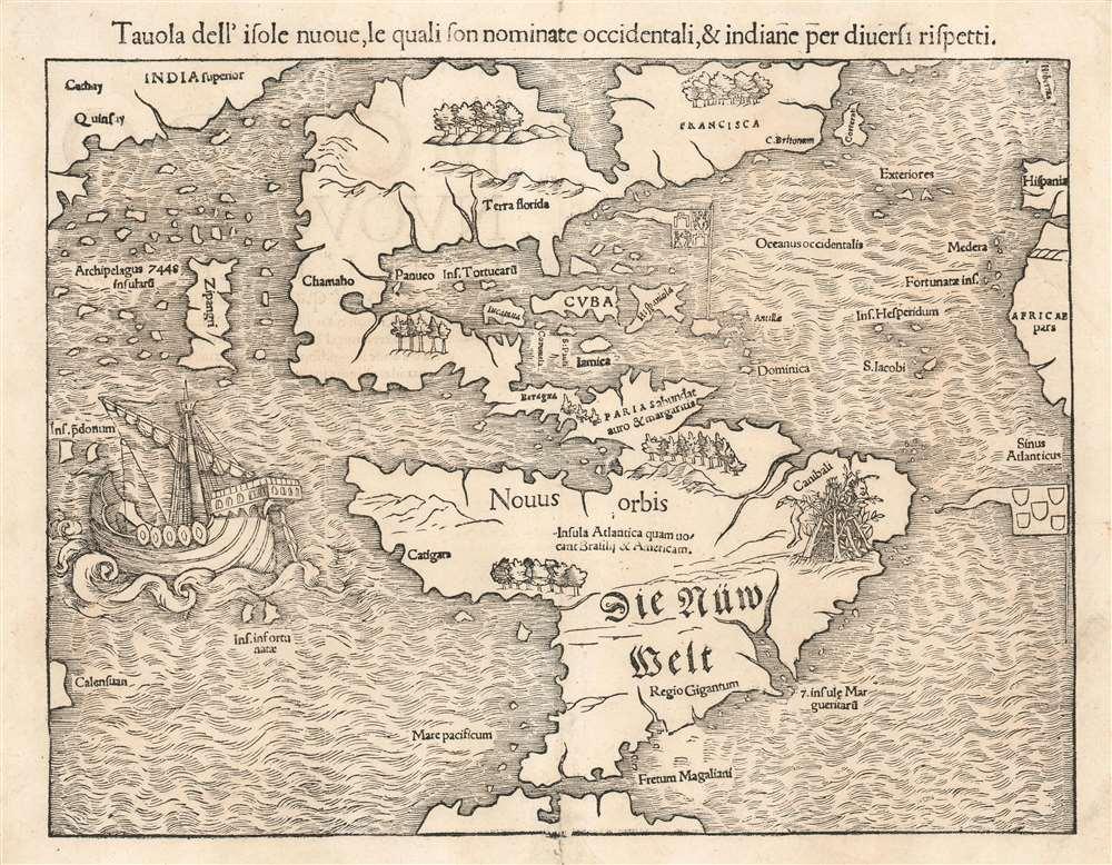 Tavola dell'isole nuoue, le quali son nominate accidentali, et indiane per diuersi rispetti. - Main View