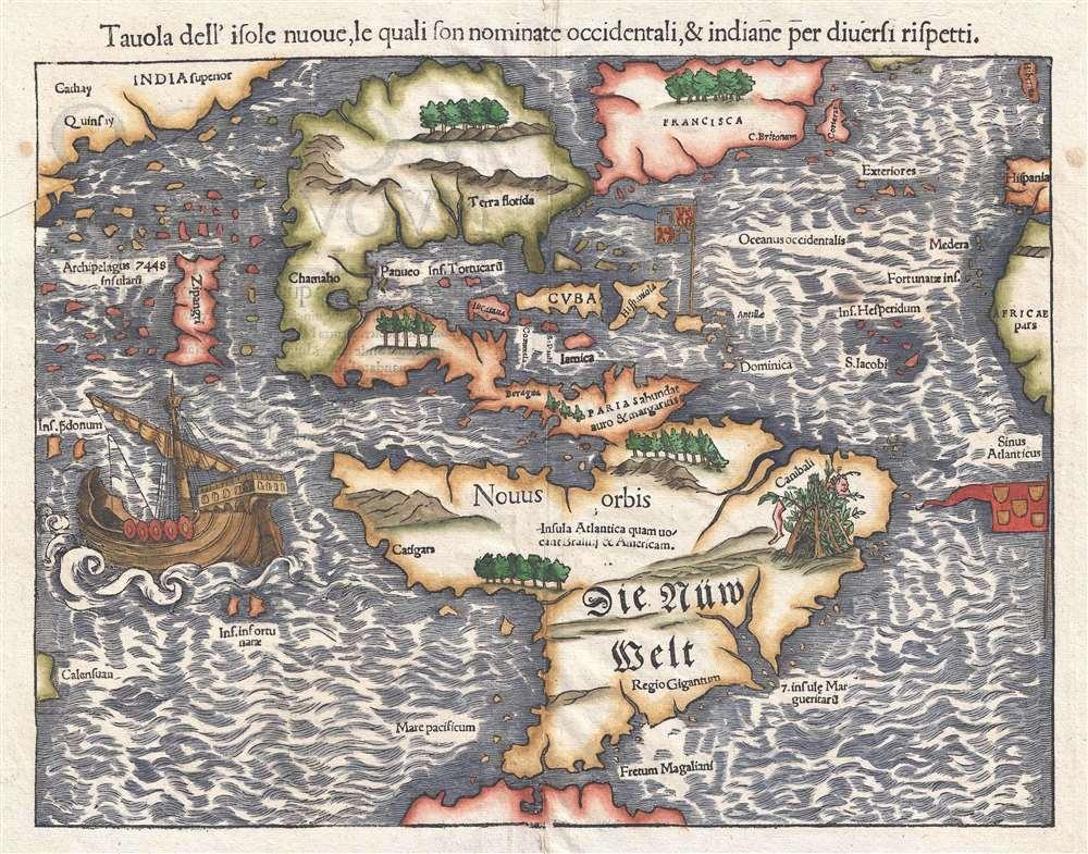 Tavola dell'isole nuoue, le quali son nominate accidentali, et indiane per diuersi rispetti.