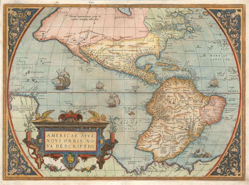 Americae Sive Novi Orbis Nova Descriptio. - Main View
