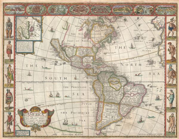 America with those known parts in that unknowne world both people and manner of buildings discribed and inlarged by I.S. Ano 1626.