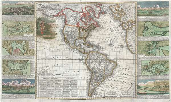 1799 George Thompson Map North America and South America