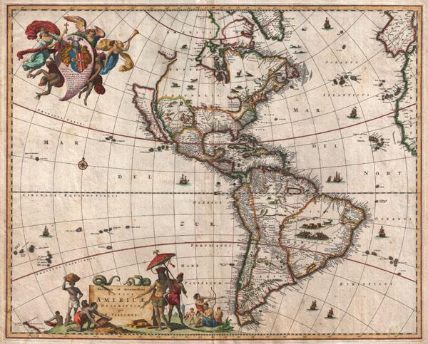 Novissima et Accuratissima Totius Americae Descriptio.