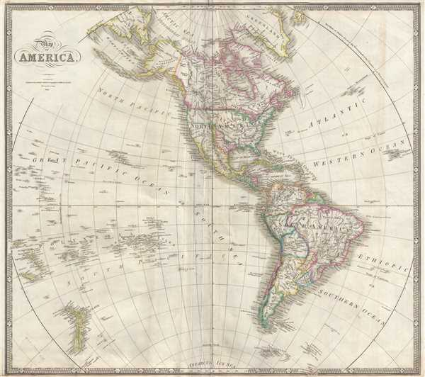 Map of America. - Main View