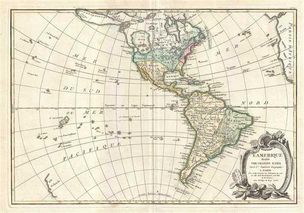 L'Amerique divisee Par Grands Etats.