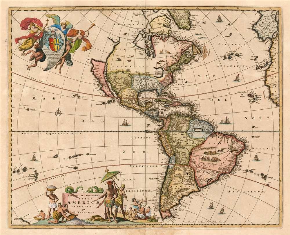 Novissima et accuratissima totius Americae Descriptio per N. Visscher - Main View