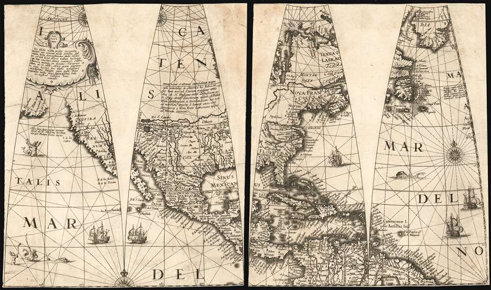 [Four Untitled Globe Gores on Two Sheets] - Main View