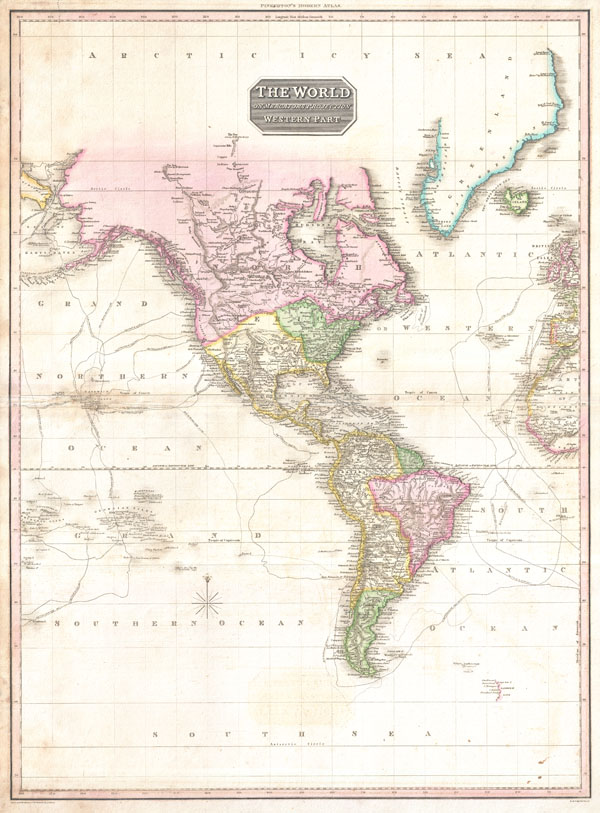 The World on Mercator's Projection Western Part.