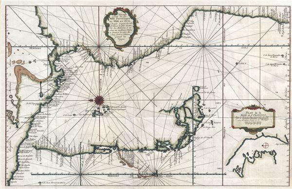Nouvelle Carte de la Mer Pacifique, ou Mer du Sud. - Main View