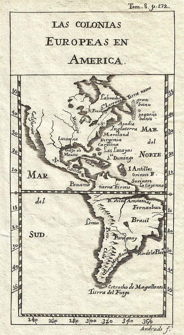 Las colonias Europeas en America.