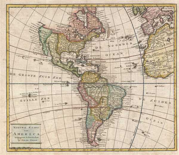 1769 Isaak Tirion Map of the Americas