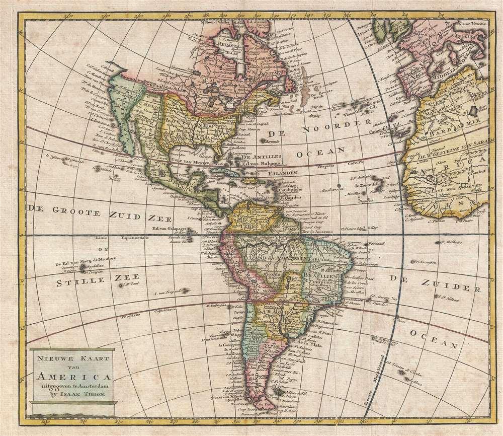 Nieuwe Kaart van America. - Main View