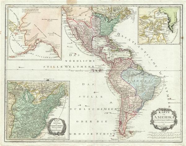 Karte Von Amerika Nach D'Anville Und Pownall.