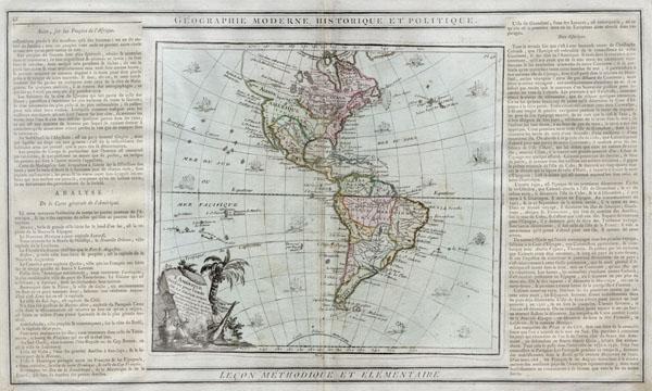 L'Amérique dressée pour l'étude de la géographie. - Main View