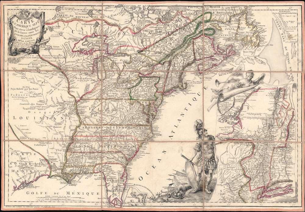 Carte de l'Amerique Septle. pour Servir a l'Intelligence de la Guerre Entre les Anglois et les Insurgents. - Main View