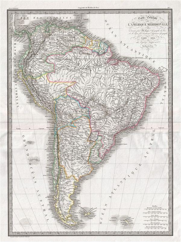 Carte generale de l'Amerique Meridionale.