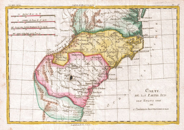 Carte De La Partie Sud Des Etats Unis