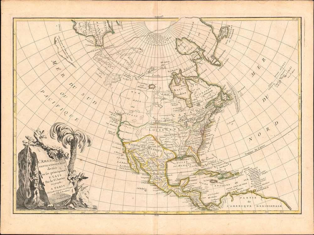 L'Amerique Septentrionale Divisee en ses Principaux Etats. - Main View