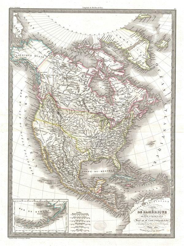 Carte de l'Amerique Septentrionale.