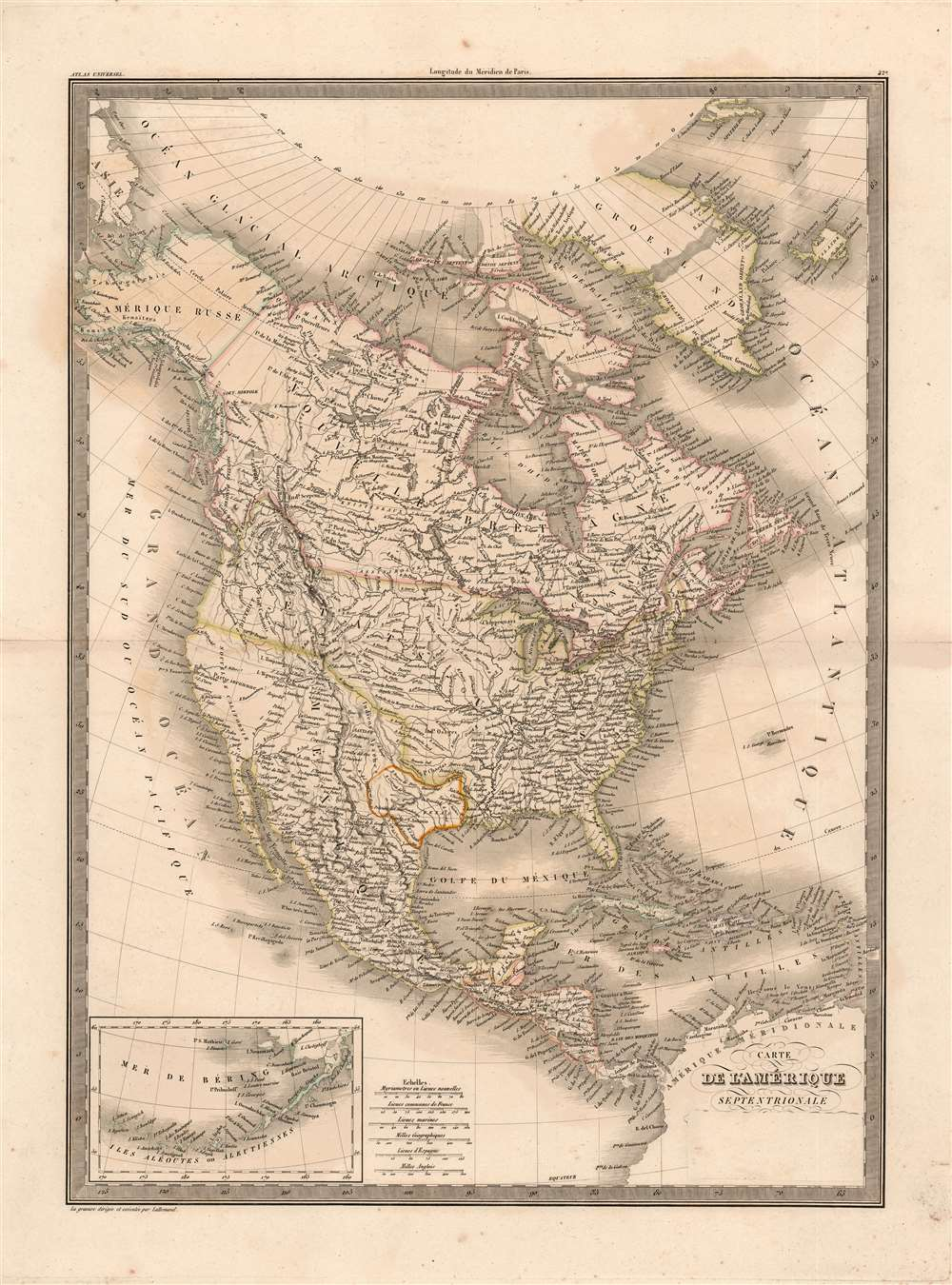 Carte de l'Amerique Septentrionale. - Main View