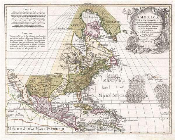 America Septentrionalis, concinnata juxta observationes Dñn Academiæ Regalis Scientiarum et nonnullorum aliorum, et juxta annotationes recentissimas…