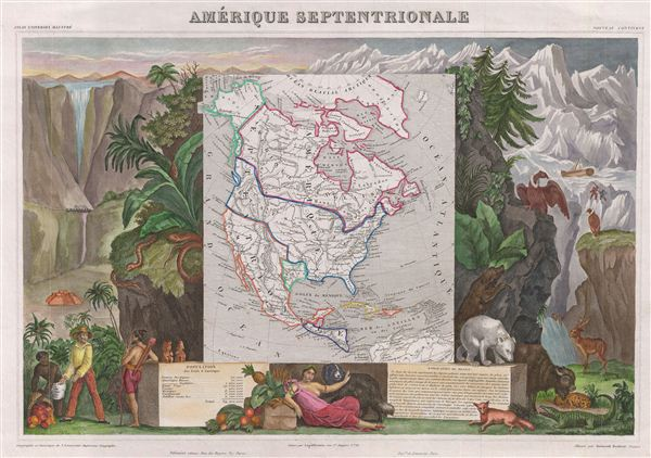 Amerique Septentrionale. - Main View
