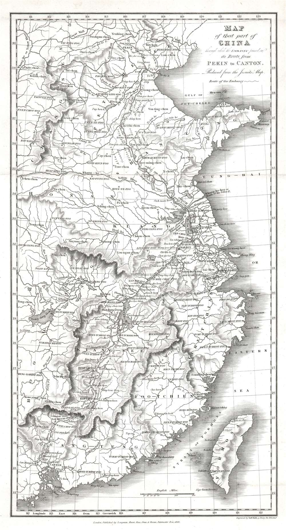 Map of that part of China through which the Embassy passed on its Route from Pekin to Canton. - Main View