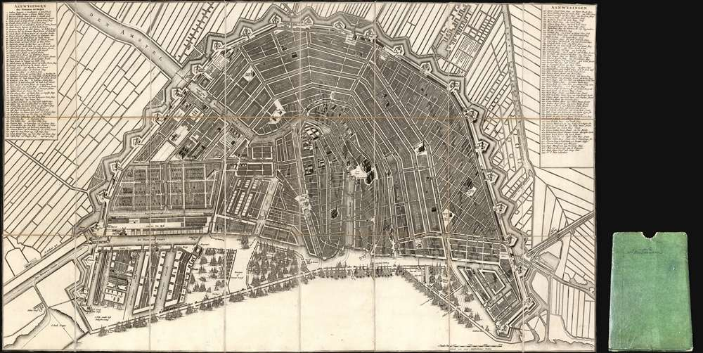 1814 Covens and Mortier Plan and Map of Amsterdam