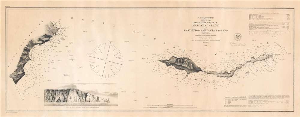 Preliminary Survey of Anacapa Island and East End of Santa Cruz Island California. - Main View