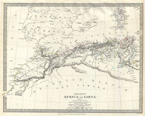 Ancient Africa or Libya Part I.: Geographicus Rare Antique Maps