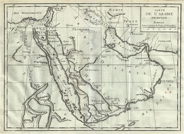 Carte de l'Arabie Primitive.
