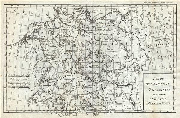 Carte de l'Ancienne Germanie. - Main View