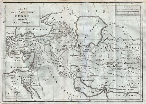 Carte de l'Ancienne Perse Divisee en XX. Satrapies. - Main View