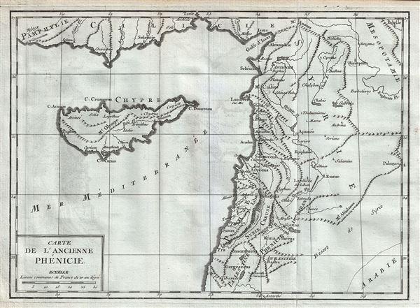 Carte de l'Ancienne Phinicie.