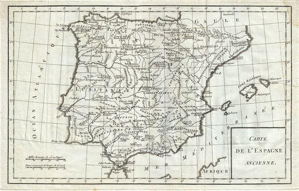 Carte de l'Espagne Ancienne.