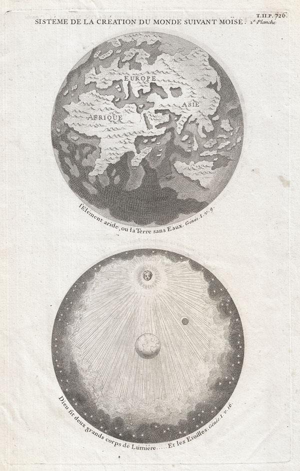 Sisteme de la Creation du Monde Suivant Moise. 2e. Planche