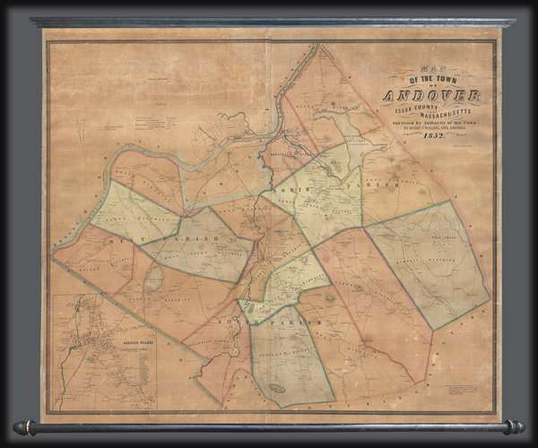 Map of the Town of Andover, Essex County, Massachusetts.