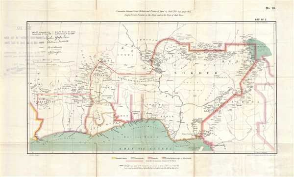 Anglo-French Frontier on the Niger and to the East of that River.