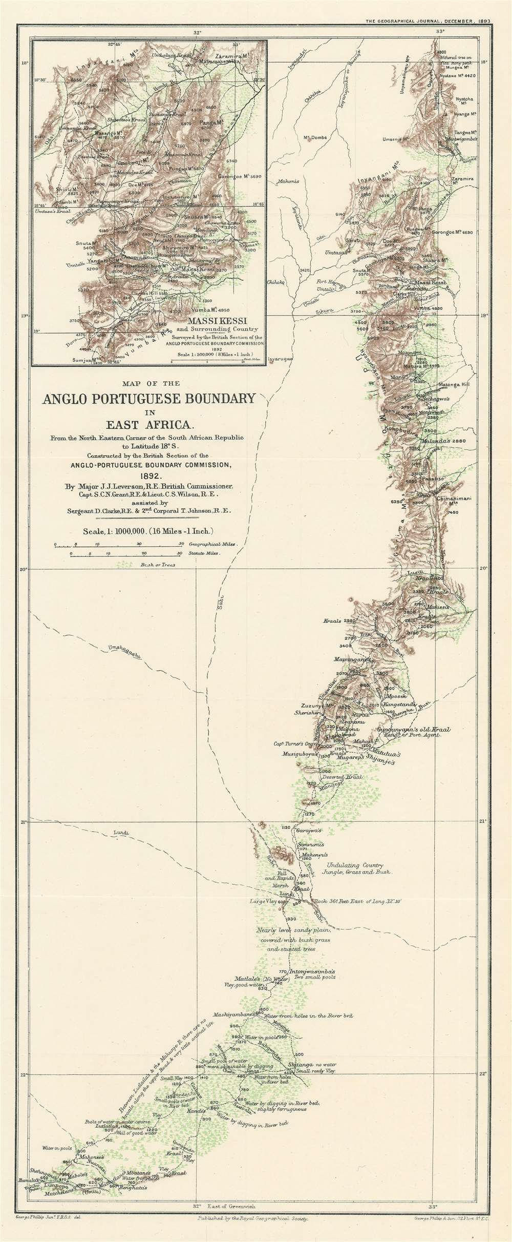 Map of the Anglo Portuguese Boundary in East Africa.
